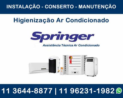 Higienização ar-condicionado Springer