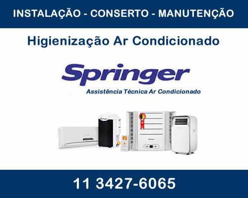 Higienização ar condicionado Springer