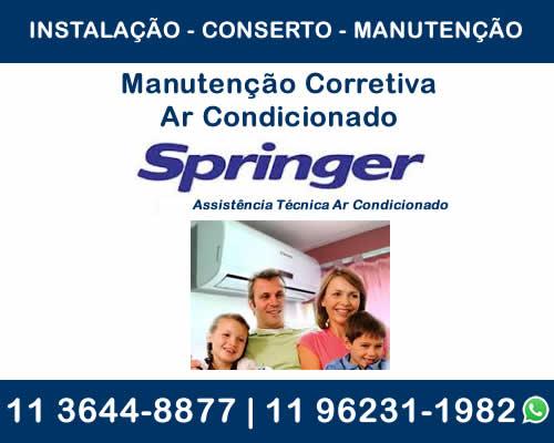 manutenção corretiva ar-condicionado Springer