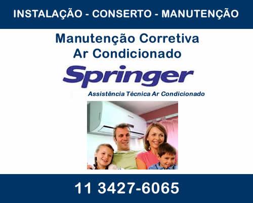 manutenção corretiva ar condicionado Springer