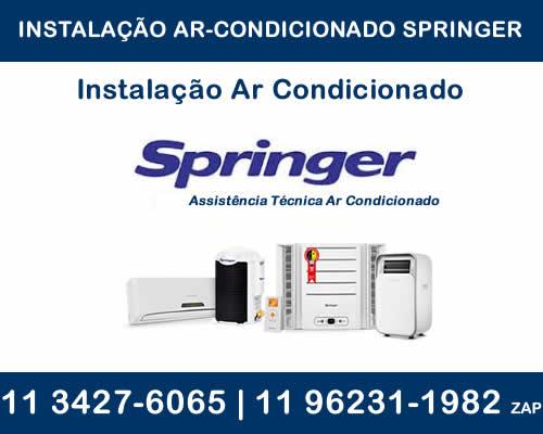 Instalação ar-condicionado Springer